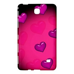 Pink Hearth Background Wallpaper Texture Samsung Galaxy Tab 4 (8 ) Hardshell Case  by Nexatart