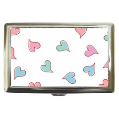 Colorful Random Hearts Cigarette Money Cases by Nexatart