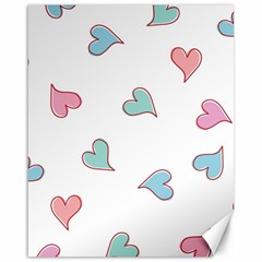 Colorful Random Hearts Canvas 16  X 20