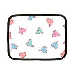 Colorful Random Hearts Netbook Case (small)  by Nexatart