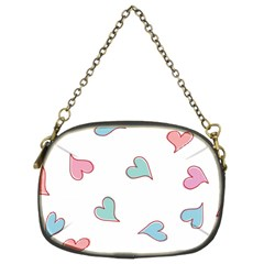 Colorful Random Hearts Chain Purses (two Sides)