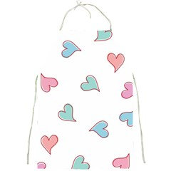 Colorful Random Hearts Full Print Aprons