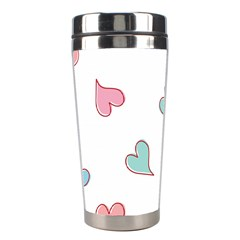 Colorful Random Hearts Stainless Steel Travel Tumblers by Nexatart