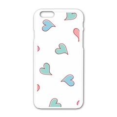 Colorful Random Hearts Apple Iphone 6/6s White Enamel Case by Nexatart