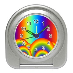 Background Rainbow Travel Alarm Clocks by Nexatart