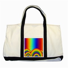 Background Rainbow Two Tone Tote Bag by Nexatart