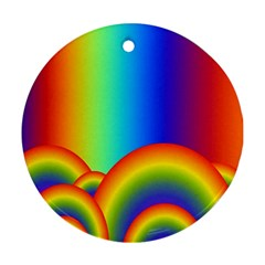 Background Rainbow Round Ornament (two Sides)