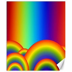 Background Rainbow Canvas 20  X 24   by Nexatart