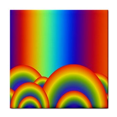 Background Rainbow Face Towel by Nexatart
