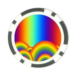 Background Rainbow Poker Chip Card Guard (10 Pack) by Nexatart
