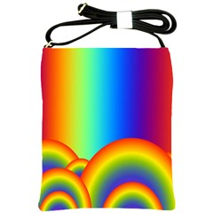 Background Rainbow Shoulder Sling Bags by Nexatart
