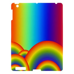 Background Rainbow Apple Ipad 3/4 Hardshell Case
