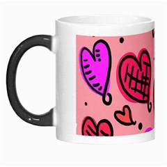 Valentine Wallpaper Whimsical Cartoon Pink Love Heart Wallpaper Design Morph Mugs by Nexatart