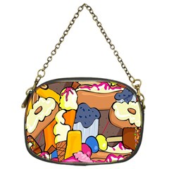Sweet Stuff Digitally Food Chain Purses (one Side)  by Nexatart