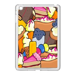 Sweet Stuff Digitally Food Apple Ipad Mini Case (white) by Nexatart