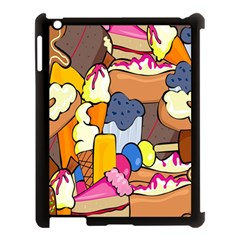 Sweet Stuff Digitally Food Apple Ipad 3/4 Case (black) by Nexatart