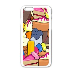 Sweet Stuff Digitally Food Apple Iphone 6/6s White Enamel Case by Nexatart