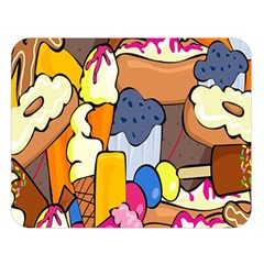 Sweet Stuff Digitally Food Double Sided Flano Blanket (large)  by Nexatart