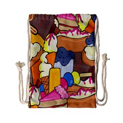 Sweet Stuff Digitally Food Drawstring Bag (small) by Nexatart