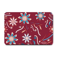 Floral Seamless Pattern Vector Small Doormat