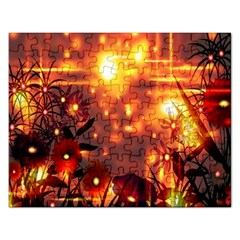 Summer Evening Rectangular Jigsaw Puzzl