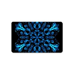 Blue Snowflake Magnet (name Card)