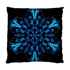 Blue Snowflake Standard Cushion Case (one Side) by Nexatart