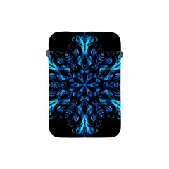 Blue Snowflake Apple Ipad Mini Protective Soft Cases by Nexatart