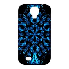 Blue Snowflake Samsung Galaxy S4 Classic Hardshell Case (pc+silicone) by Nexatart