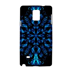 Blue Snowflake Samsung Galaxy Note 4 Hardshell Case by Nexatart