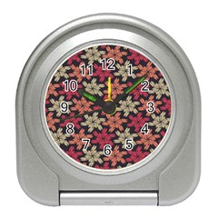 Floral Seamless Pattern Vector Travel Alarm Clocks by Nexatart