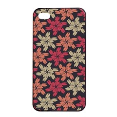 Floral Seamless Pattern Vector Apple Iphone 4/4s Seamless Case (black) by Nexatart