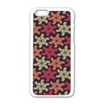 Floral Seamless Pattern Vector Apple iPhone 6/6S White Enamel Case Front