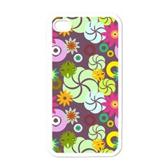 Floral Seamless Pattern Vector Apple Iphone 4 Case (white) by Nexatart