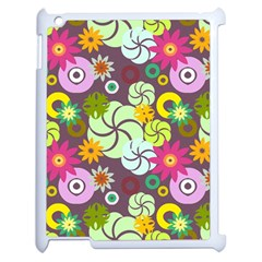 Floral Seamless Pattern Vector Apple Ipad 2 Case (white) by Nexatart