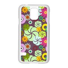 Floral Seamless Pattern Vector Samsung Galaxy S5 Case (white) by Nexatart