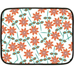 Floral Seamless Pattern Vector Double Sided Fleece Blanket (mini)