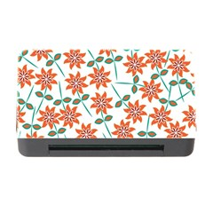 Floral Seamless Pattern Vector Memory Card Reader With Cf by Nexatart
