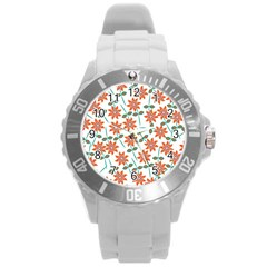 Floral Seamless Pattern Vector Round Plastic Sport Watch (l) by Nexatart