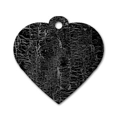 Old Black Background Dog Tag Heart (two Sides)