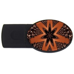 Digital Kaleidoskop Computer Graphic Usb Flash Drive Oval (2 Gb) by Nexatart