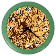 Abstract Brachiate Structure Yellow And Black Dendritic Pattern Color Wall Clocks