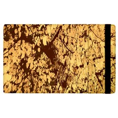 Abstract Brachiate Structure Yellow And Black Dendritic Pattern Apple Ipad 3/4 Flip Case