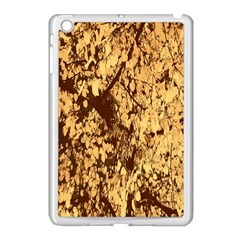 Abstract Brachiate Structure Yellow And Black Dendritic Pattern Apple Ipad Mini Case (white)