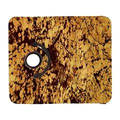 Abstract Brachiate Structure Yellow And Black Dendritic Pattern Galaxy S3 (flip/folio)