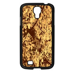 Abstract Brachiate Structure Yellow And Black Dendritic Pattern Samsung Galaxy S4 I9500/ I9505 Case (black)