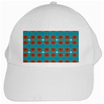 Floral Seamless Pattern Vector White Cap Front