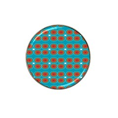 Floral Seamless Pattern Vector Hat Clip Ball Marker (4 Pack)