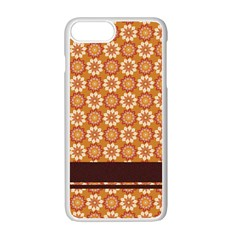 Floral Seamless Pattern Vector Apple Iphone 7 Plus White Seamless Case