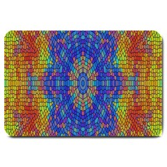 A Creative Colorful Backgroun Large Doormat
